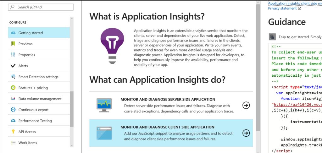 Application Insight Tracking Script