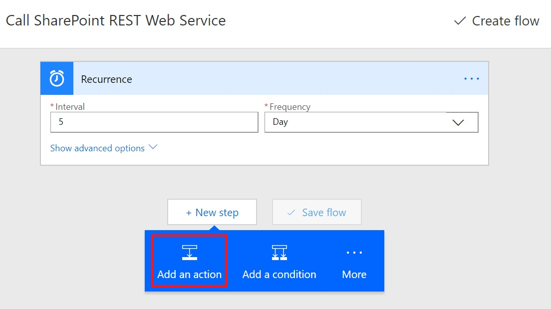How to Call SharePoint REST WebService from Microsoft Flow - Cloud