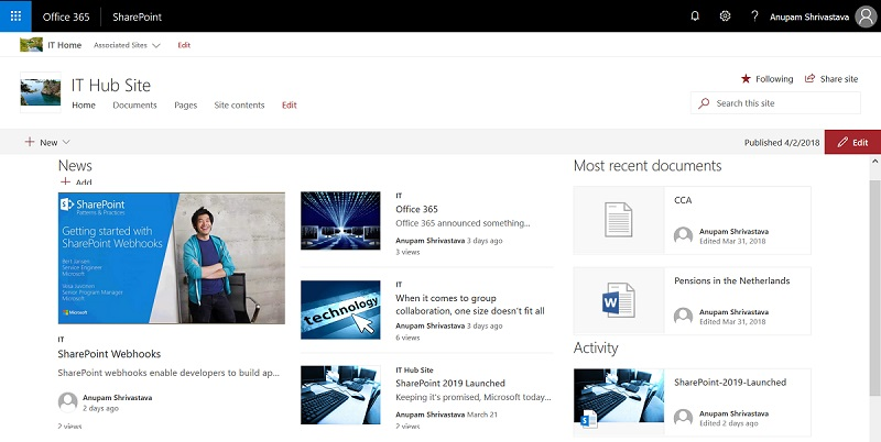 Hub sites in SharePoint Online - Cloud Decoded