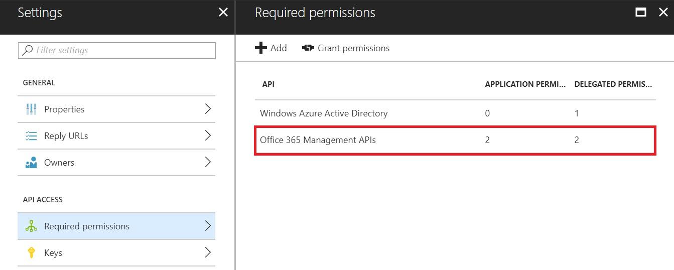 Added API Permissions