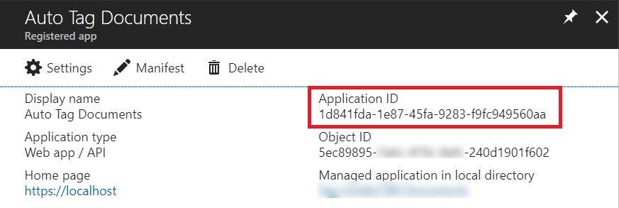 Get Application ID