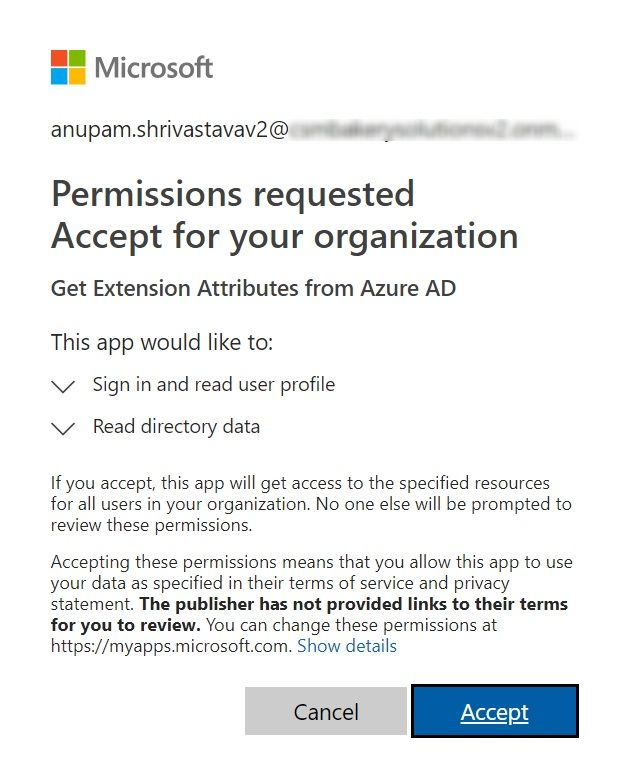 Admin Consent For App