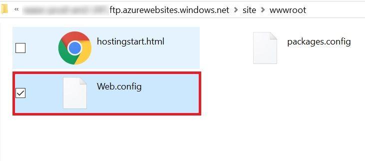 Access FTP Web Config