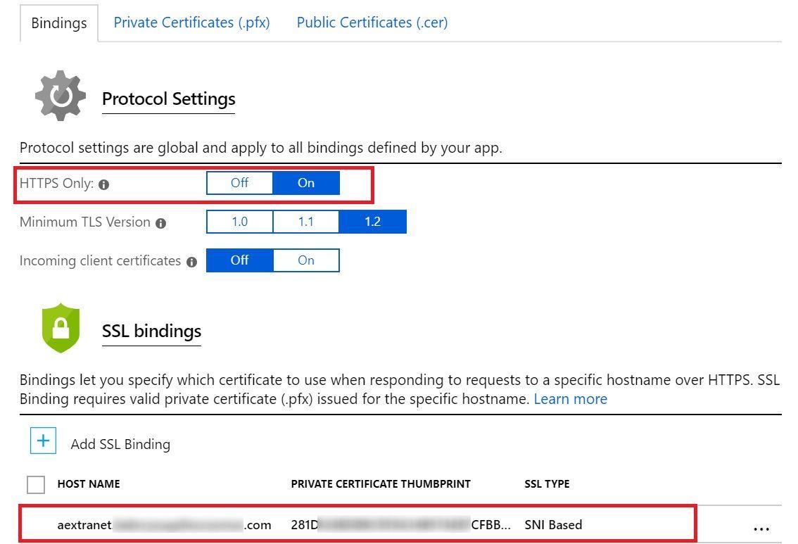 Added SSL Binding
