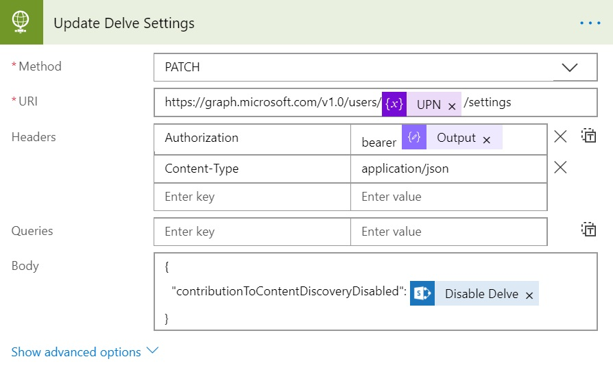 Disable Delve for Selected Users using PowerShell/MS Flow